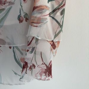 Gorgeous light and airy leith tiered silk top